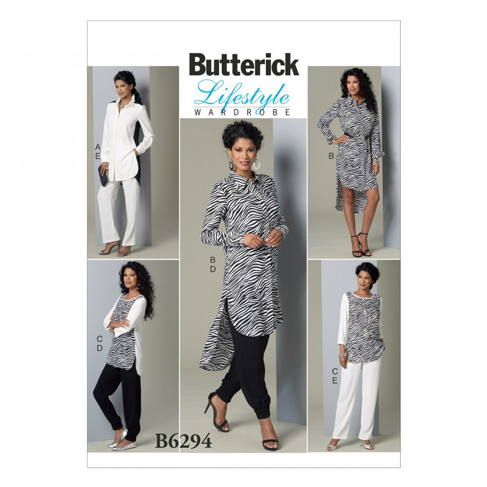 Free UK P&P - Butterick Ladies Easy Sewing Pattern 6294 Tunic Tops ...