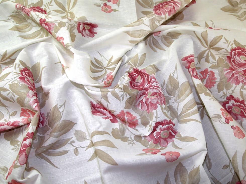 floral linen dress fabric