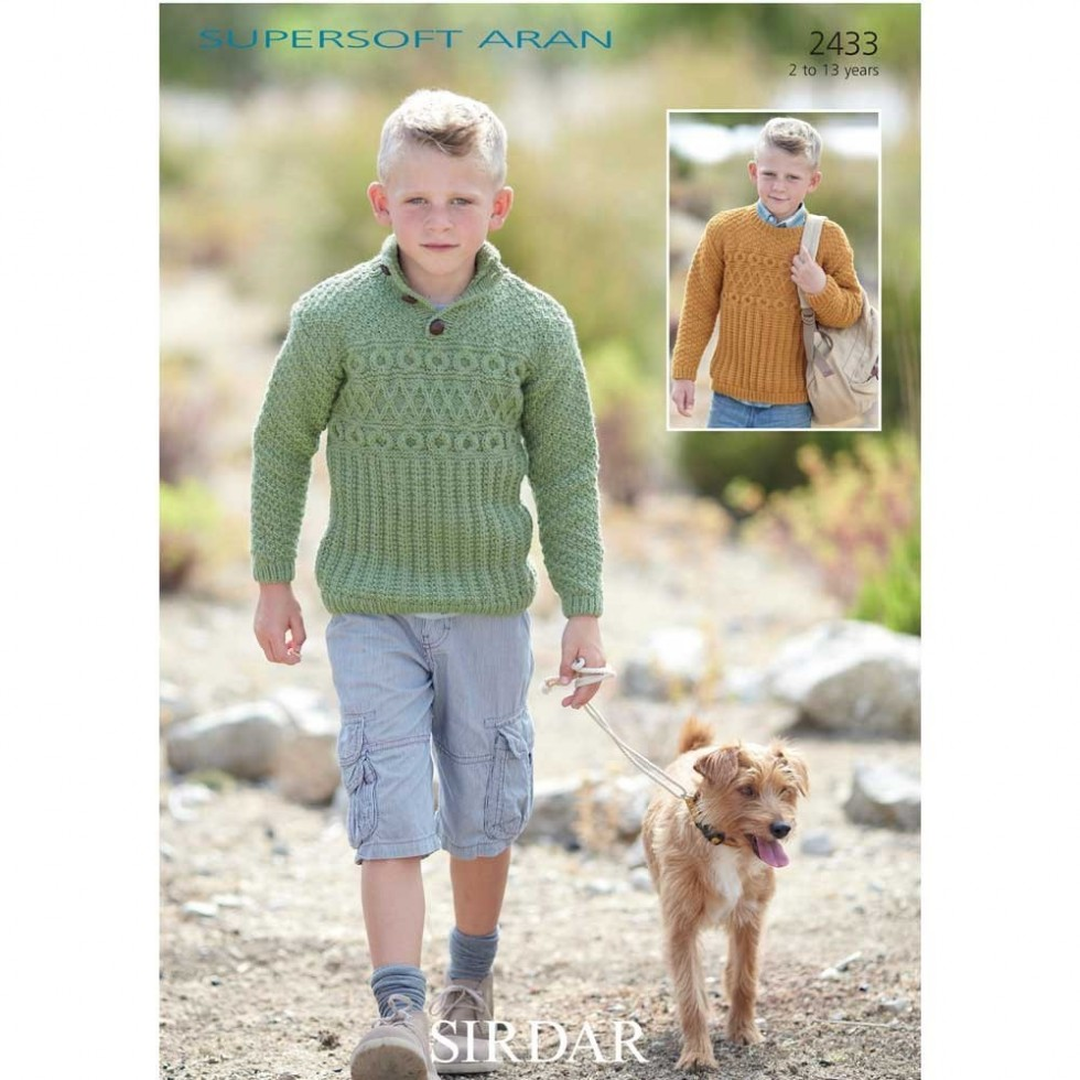 Sirdar boys sweaters supersoft knitting pattern 2433 aran sirdar sirdar boys sweaters supersoft knitting pattern 2433 aran bankloansurffo Image collections