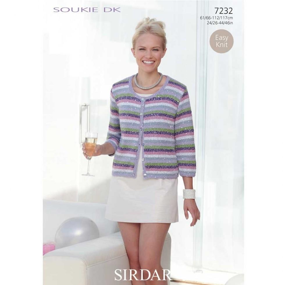 Sirdar ladies girls cardigan soukie knitting pattern 7232 dk sirdar ladies girls cardigan soukie knitting pattern 7232 dk bankloansurffo Image collections