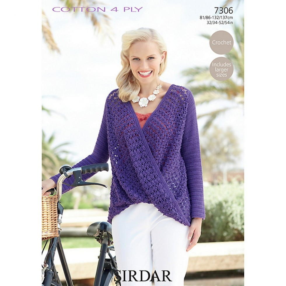 Free uk pp sirdar ladies top cotton crochet pattern 7306 4 ply free uk pp sirdar ladies top cotton crochet pattern 7306 bankloansurffo Image collections