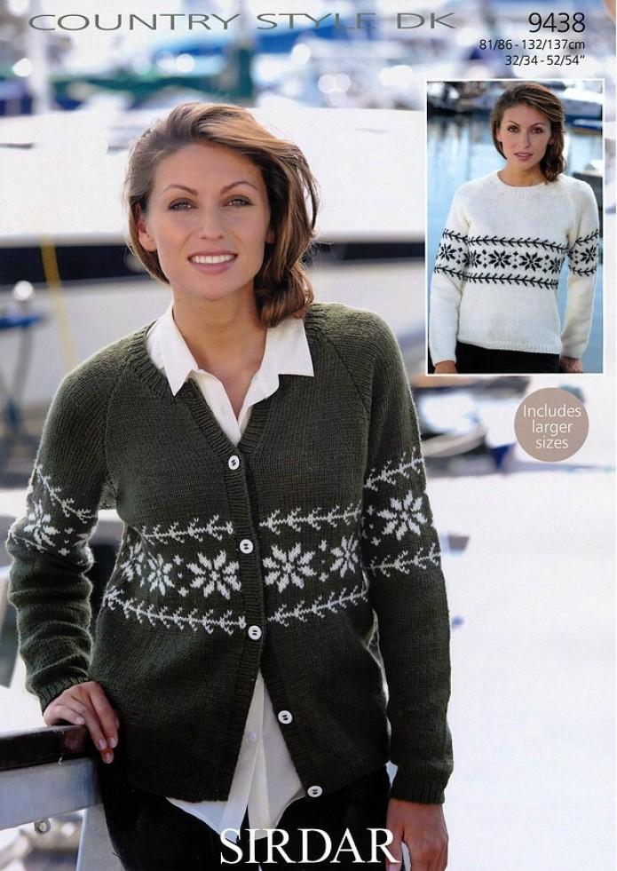 Sirdar Ladies Fair Isle Cardigan & Sweater Country Style Knitting ...