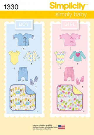 Free UK P&P - Simplicity Baby Easy Sewing Pattern 1330 Boy ...