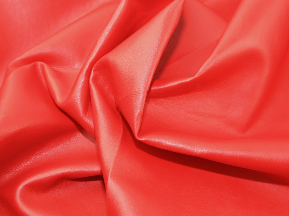 Soft pvc leathercloth faux leather pleather fabric c2708 for Red leather fabric