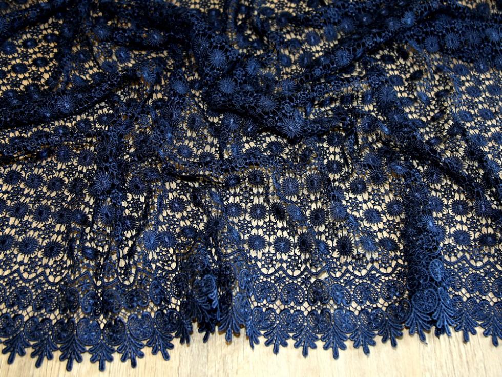 Scalloped Edge Couture Bridal Heavy Guipure Lace Fabric MV HH400