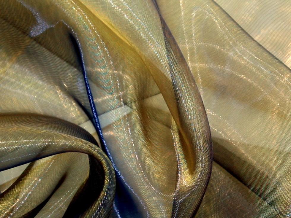 Two tone sheer organza dress fabric ttsheerorg m ebay for Sheer fabric